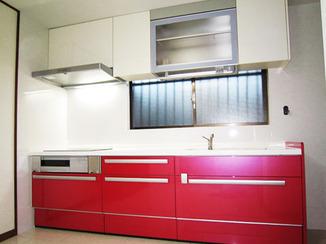 キッチンリフォーム 収納許容量を増やして、快適キッチン